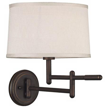 Kenroy Home Theta Bronze Plug-In Swing Arm Wall Light