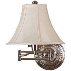 Kenroy Amherst Brushed Bronze Plug-In Swing Arm Wall Light