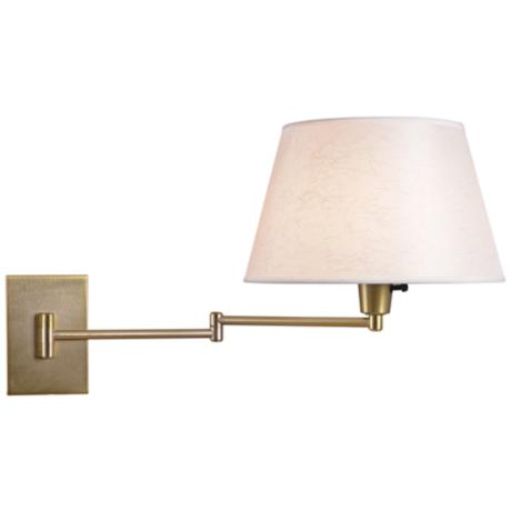 Kenroy Element Vintage Brass Swing Arm Plug-In Wall Light