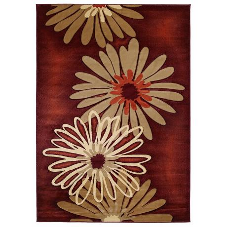 Mossa Collection Daisy Terracotta Area Rug
