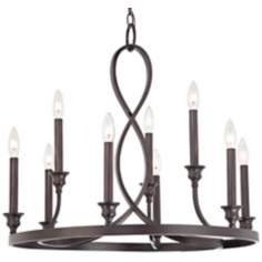 Quoizel Whitfield Black Cherry Two Tier Chandelier
