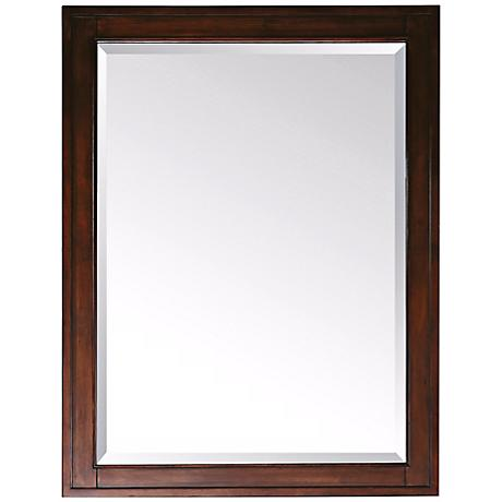 "Avanity Madison Light Espresso 28"" Wide Wall Mirror"