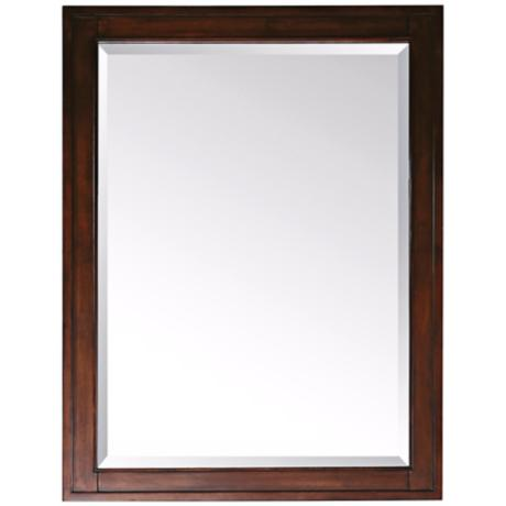 "Madison Light Espresso 28"" Wide Rectangular Wall Mirror"