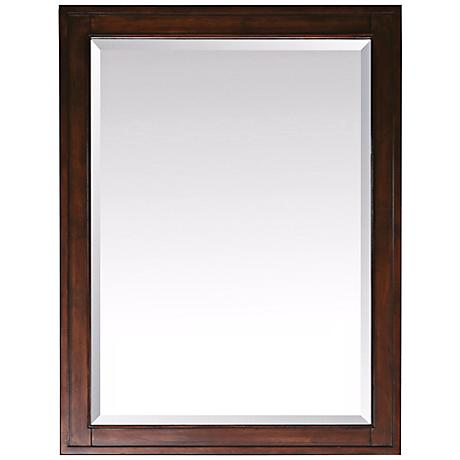 "Avanity Madison Tobacco 32"" High Rectangular Wall Mirror"