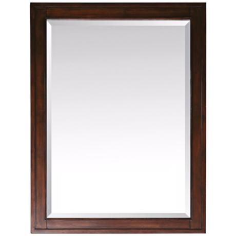 "Madison Tobacco 28"" Wide Rectangular Wall Mirror"