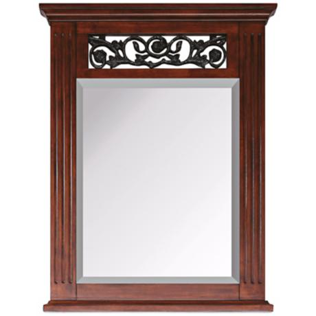 "Napa Dark Cherry 31 1/2"" High Rectangular Wall Mirror"