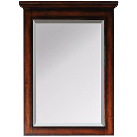 "Avanity Tropica Antique Walnut 32"" High Tall Wall Mirror"