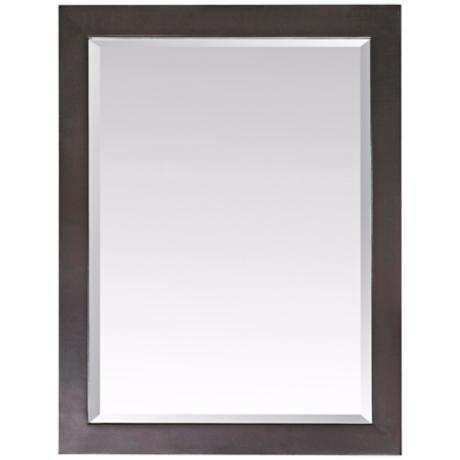 "Venisia Black 33 1/2"" High Rectangular Wall Mirror"