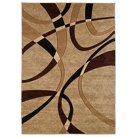 Mossa Collection Ribbons Chocolate Area Rug