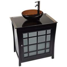 Panache Tea Glass Contemporary Vanity