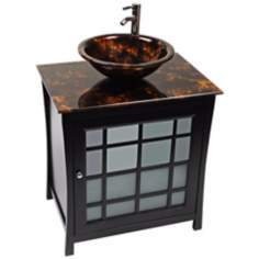 Panache Tortoise Glass Contemporary Vanity