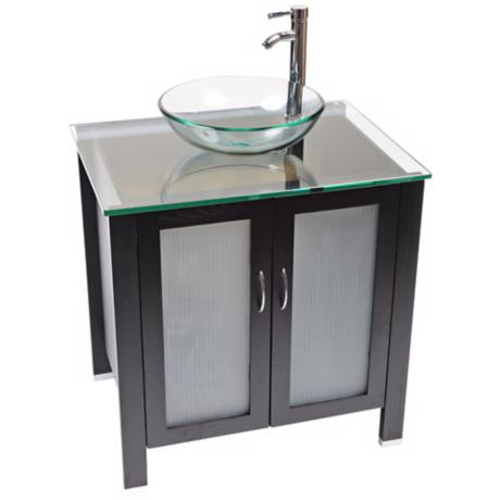 Waterhouse Clear Glass Contemporary Vanity