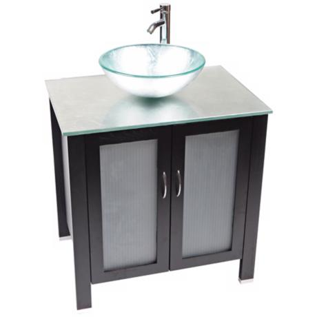 Waterhouse Silver Foil Glass Contemporary Vanity