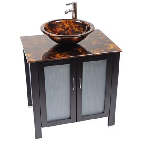 Waterhouse Tortoise Glass Contemporary Vanity