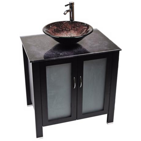 Waterhouse Volcano Glass Contemporary Vanity