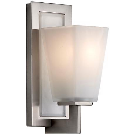 "Feiss Clayton Brushed Steel 10 1/2"" High Wall Sconce"