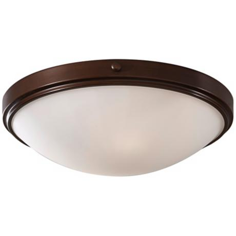 "Murray Feiss Perry Bronze 15"" Round Ceiling Light"
