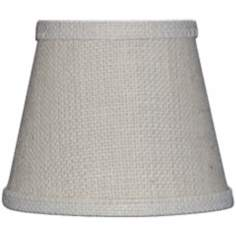 Set of 6 Off White Burlap Mini Shades 4x6x5.25 (Clip-On)