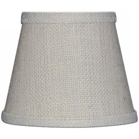 Off White Burlap Lamp Shade 8x14x10.25 (Spider)