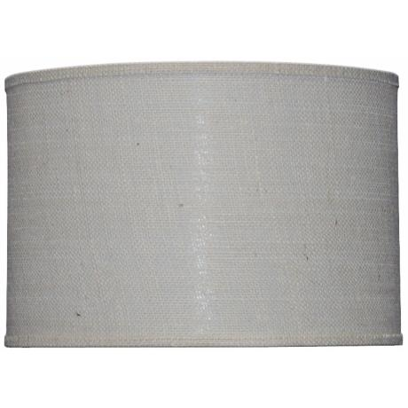 Off-White Burlap Drum Shade 16x16x13 (Spider)