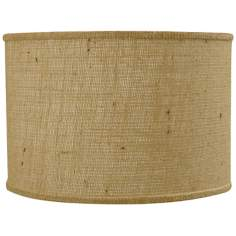 Natural Burlap Drum Shade 12x12x10 (Spider)