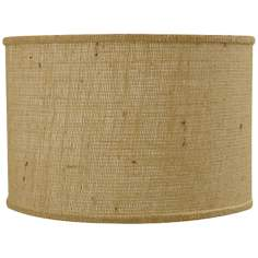 Natural Burlap Drum Shade 14x14x11 (Spider)