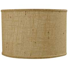 Natural Burlap Drum Shade 16x16x13 (Spider)