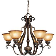 "Brompton 31 1/2"" Wide 6-Light Chandelier"