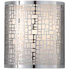 "Murray Feiss Joplin Chrome 9"" High Wall Sconce"