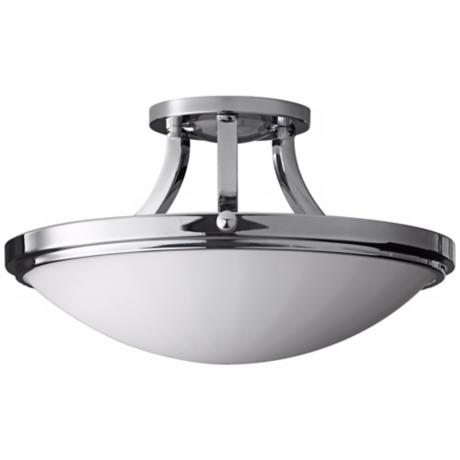 "Murray Feiss Perry Chrome15 3/4"" Wide Semi-Flush Light"