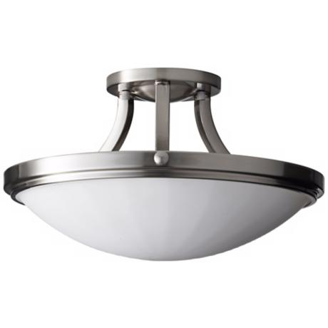 "Murray Feiss Perry Steel 15 3/4"" Wide Ceiling Light Fixture"