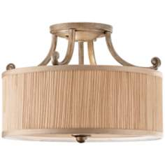 "Murray Feiss Abbey 14"" Wide Semi Flush Ceiling Light"