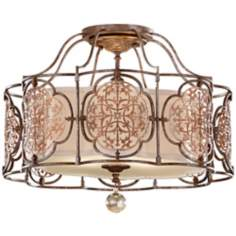 "Murray Feiss Marcella 21 1/4"" Wide Semi-Flush Light"