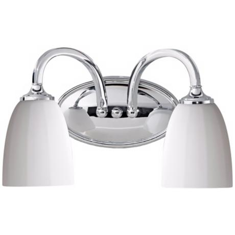 "Murray Feiss Perry 14"" Wide Chrome Bathroom Fixture"