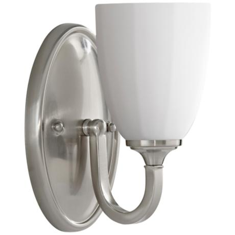 "Murray Feiss Perry 8 3/4"" High Brushed Steel Wall Sconce"