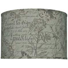 French Botanical Drum Shade 16x16x13 (Spider)