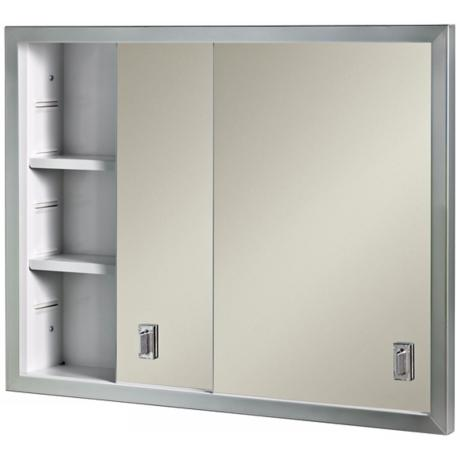 Broan Contempora Sliding Stainless Bath Medicine Cabinet