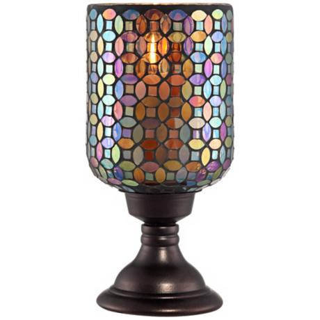 Small Mosaic Glass Candle Holder