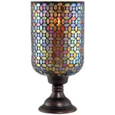 Large Mosaic Glass Candle Holder