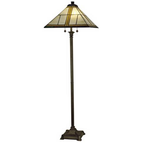 "Dale Tiffany Simplicity Mission 65"" High Floor Lamp"