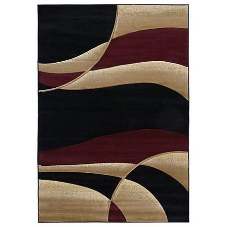 Mossa Collection Anacapa Burgundy Area Rug