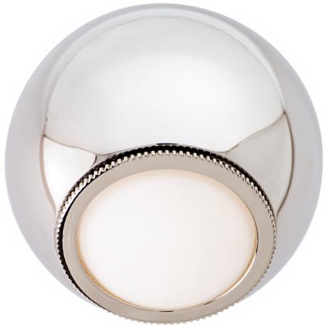 "CSL Orb Polished Nickel 5 1/4"" Wide LED Wall Light"