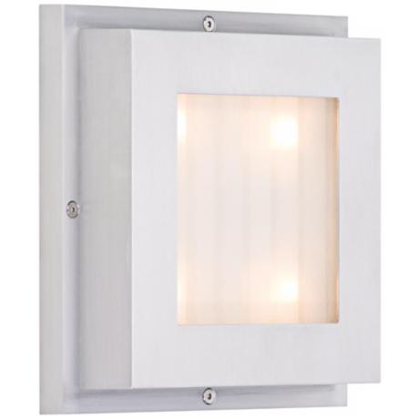 "CSL Level Satin Aluminum 6 3/4"" Wide LED Wall/Ceiling Light"