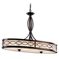 "Kichler Punctuation 33"" Wide Linear Pendant Chandelier"