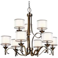 "Kichler Lacey Antique Pewter 34 1/2"" Wide Chandelier"
