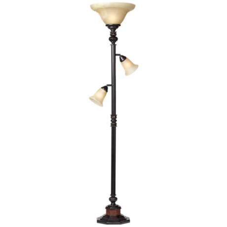 Kathy Ireland Sonnett 3 Light Torchiere Floor Lamp