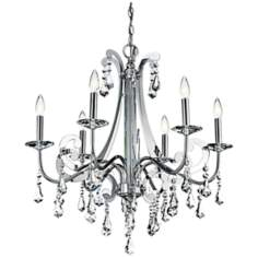 "Kichler Leanora Chrome 28"" Wide 6-Light Chandelier"