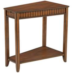 Brown Cherry Wood Wedge Table