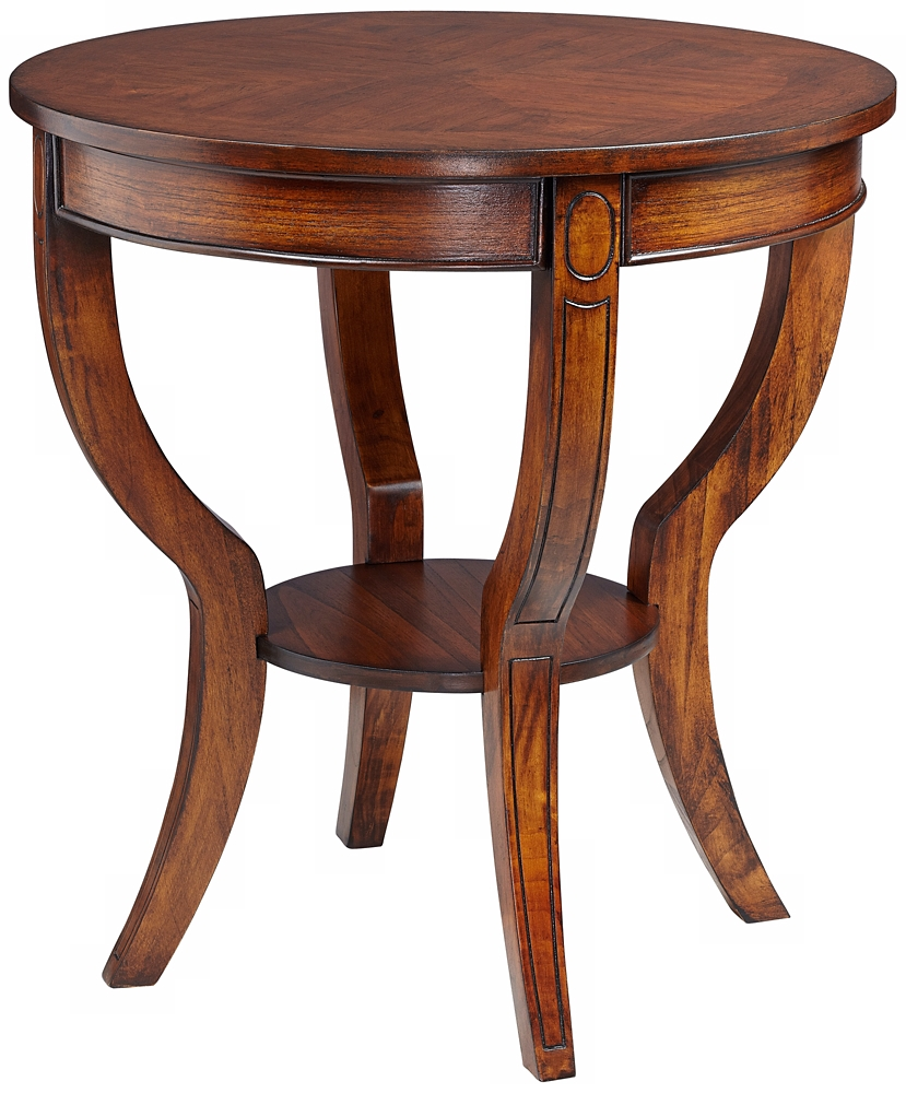 Furniture living room furniture table cherry finish for Accent furnitureable