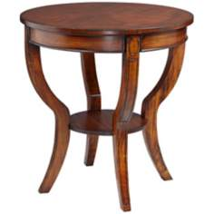 Paterson Cherry Round Wood End Table